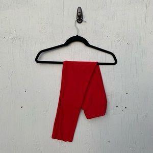 LuLaRoe Red Solid Full Length Leggings